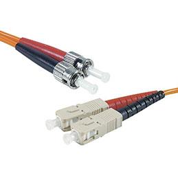 Jarretière optique duplex multimode OM2 50/125 SC-UPC/ST-UPC orange - 3 m