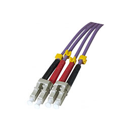 Cordon duplex OM3  violet 50/125 Lc/Lc - 3M (photo)