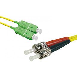Jarretière optique duplex monomode OS2 9/125 SC-APC/ST-UPC jaune - 3 m