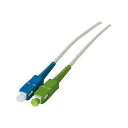 Jarretière optique simplex monomode OS2 9/125 SC-APC/SC-UPC blanc - 15 m