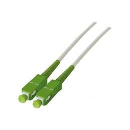 Jarretière optique simplex monomode OS2 9/125 SC-APC/SC-APC blanc - 3 m