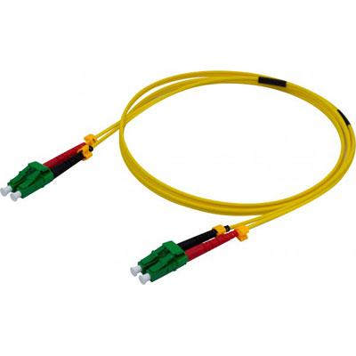 Jarretière duplex 2.0 mm OS2 LC-APC/LC-APC jaune - 3 m (photo)