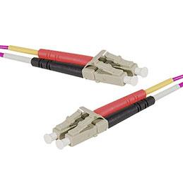 Jarretière optique duplex multimode OM4 50/125 LC-UPC/LC-UPC erika - 15 m