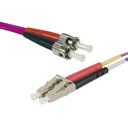 Jarretière optique duplex multimode OM4 50/125 LC-UPC/ST-UPC erika - 5 m