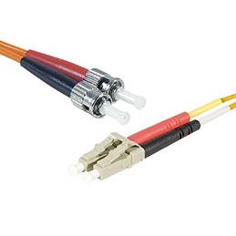 Jarretière optique duplex HD multi OM1 62,5/125 LC-UPC/ST-UPC orange - 1 m