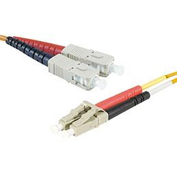 Jarretière optique duplex HD multi OM2 50/125 LC-UPC/ST-UPC orange - 10 m