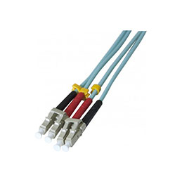 Jarretière optique duplex HD multi OM3 50/125 LC-UPC/LC-UPC aqua - 5 m