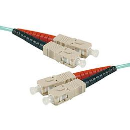 Jarretière optique duplex HD multi OM3 50/125 SC-UPC/SC-UPC aqua - 5 m