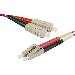 Jarretière optique duplex HD multi OM4 50/125 SC-UPC/LC-UPC erika - 10 m