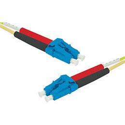 Jarretière optique duplex HD mono OS2 9/125 LC-UPC/LC-UPC jaune - 1 m (photo)