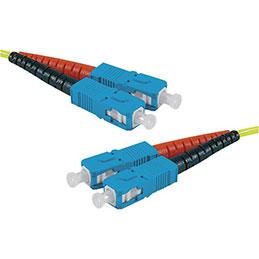 Jarretière optique duplex HD mono OS2 9/125 SC-UPC/SC-UPC jaune - 1 m