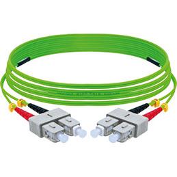 Jarretière optique duplex HD multi OM5 50/125 SC-UPC/SC-UPC vert - 5 m