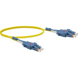 Jarretière optique duplex UHD uniboot OS2 9/125 LC-UPC/LC-UPC jaune - 10 m