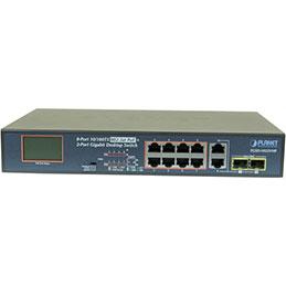 Planet FGSD-1022VHP SW 8P PoE+ 120W +écran LCD +2G +2SFP
