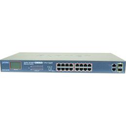 Planet FGSW-1822VHP SW 16P PoE+ 300W+ écran LCD +2G +2SFP