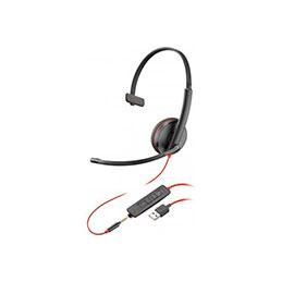 PLANTRONICS Blackwire C3215 casque USB-A+Jack -1 écouteur (photo)