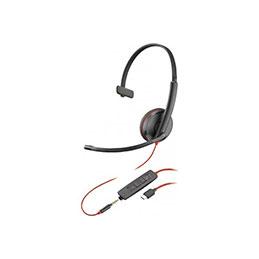 PLANTRONICS Blackwire C3215 casque USB-C+Jack -1 écouteur (photo)