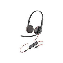 PLANTRONICS Blackwire C3225 casque USB-C+Jack -2 écouteurs (photo)