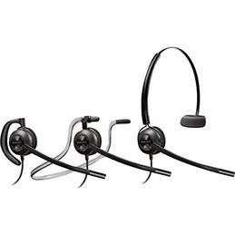 Micro-casque filaire Plantronics Encore Pro HW540 - 1 écouteur - se porte en serre-tête, contour d'oreille ou contour de nuque (photo)