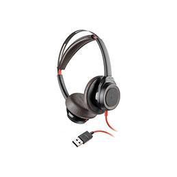 PLANTRONICS Blackwire 7225 Casque USB noir - 2 écouteurs (photo)