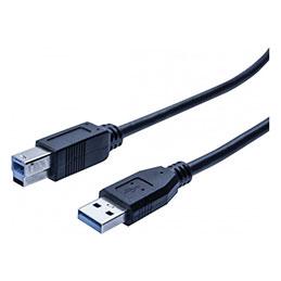 Cordon éco USB 3.0 type A / B noir - 0,5 m