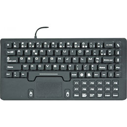 Clavier /touchpad compact en silicone rigide usb noir (photo)