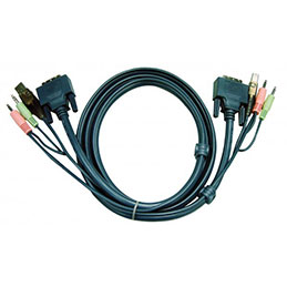 Aten 2L-7D03U cordon KVM DVI/USB/Audio - 3M (photo)