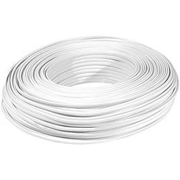 Câble méplat RJ blanc 8C - rouleau de 100m (photo)