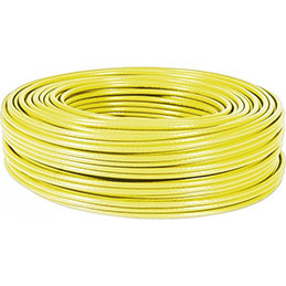 Cable multibrin f/utp CAT6A LS0H jaune - 100M (photo)