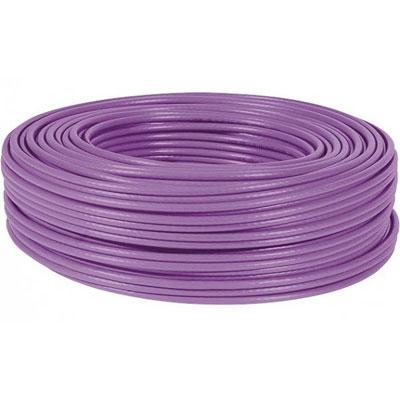 Dexlan cable monobrin f/ftp CAT6A violet LS0H rpc dca - 100M