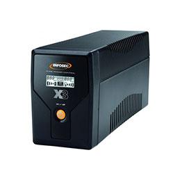 Onduleur line interactive X3 EX LCD USB - 650 VA - 2 prises (photo)
