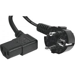 Cordon d alimentation PC CEE7 / C13 coudé noir - 1,8 m