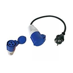 Adaptateur IEC 60309 femelle / CEE7 mâle (photo)