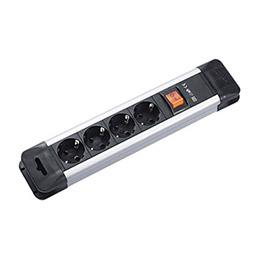 Multiprise professionnelle avec interrupteur - 4 prises
