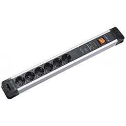 Multiprise professionnelle avec interrupteur - 6 prises