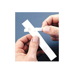 Ruban étiquette Dymo - Polyester Blanc 12mm (photo)