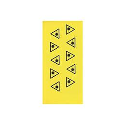 Etiquette radiation laser (lot de 10)