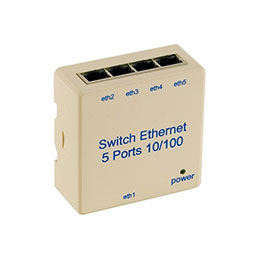 Switch 5 PORTS10/100 pour rail din