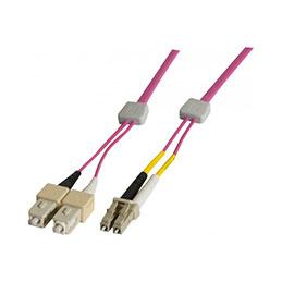 Jarretière à repérage lumineux duplex OM4 50/125 LC-UPC/SC-UPC erika - 3 m (photo)