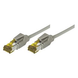 Cordon RJ45 sur câble catégorie 7 S/FTP LSOH snagless gris - 15 m