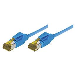 Cordon RJ45 sur câble catégorie 7 S/FTP LSOH snagless bleu - 0,5 m