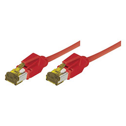 Cordon RJ45 sur câble catégorie 7 S/FTP LSOH snagless rouge - 1,5 m