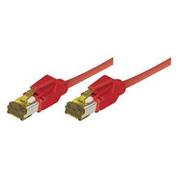 Cordon RJ45 sur câble catégorie 7 S/FTP LSOH snagless rouge - 10 m