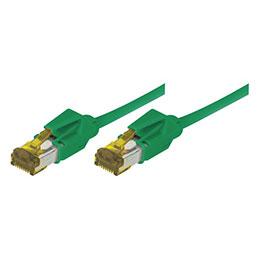 Cordon RJ45 sur câble catégorie 7 S/FTP LSOH snagless vert - 1 m
