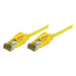 Cordon patch rj45 sftp cat 6a lsoh snagless jaune 2 m