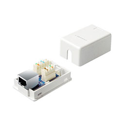 Boîtier mural rapide CAT5E - 1 RJ45 blindé (photo)