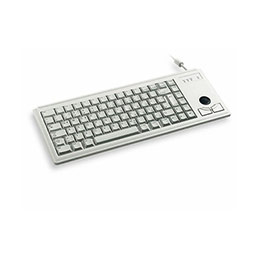 Cherry clavier miniature + trackball azerty 2 x PS2 gris (photo)