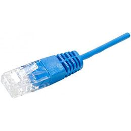 Cordon UTP 1P bleu RJ45/RJ45 Téléphone 100 ohms - 1M