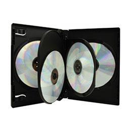 Boitier dvd noir pour 4 dvd pack 3 (photo)