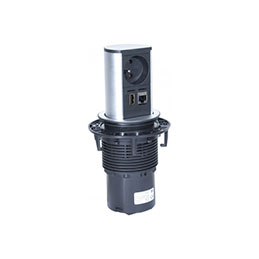 BACHMANN Multiprise encastrable ELEVATOR 1 prise + 1  RJ45 + 1 USB (photo)